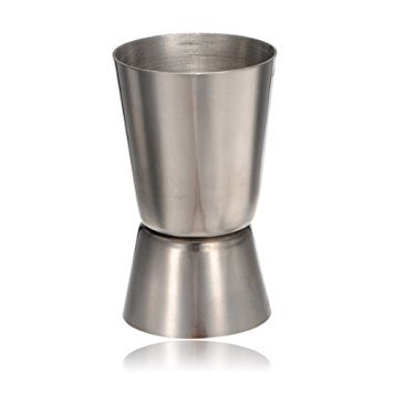 Water & Wood 0.8 oz -1.7 oz Stainless Steel Dual Jigger Cocktail Drinks Liquor Ounce Cup Pourer Measure Measuring Tool For Bar Craft -