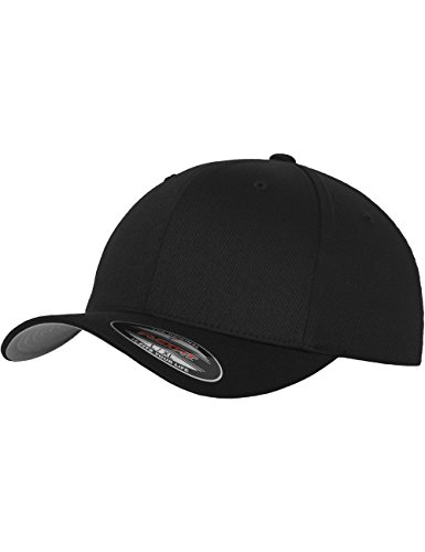 Flexfit, Cappello Unisex adulto Wooly Combed, Nero (Black), S/M