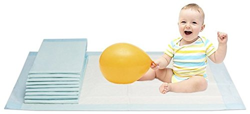 Preisvergleich Produktbild Vidima Wickelunterlage 60x90 cm | 10 Stück | 6-lagige saugstarke Babyunterlage aus Zellstoff | hautfreundlich & rutschhemmend | unterverpackte Einmalunterlage für Kleinkinder & Säuglinge