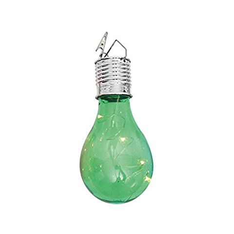 Reaso Noël, Halloween et autres décorations festives , Solaire ampoule lustre Jardin extérieur Camping Hanging LED Lampe (Vert)