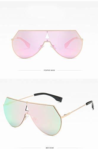 ZJWZ Metal Sonnenbrille koreanische Version des Trends der Sonnenbrille Persönlichkeit Mode Gläser,goldframecherrypowder