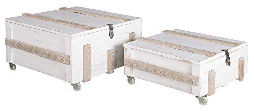 elbmöbel–Mesa baúl Mesa Mesa Caja Color Blanco Envejecido Made