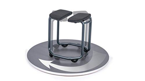 Dusch-Hocker SPA von SALJOL mit verstellbarer Hygieneöffnung für Intimbereich, dreht auf der Stelle, sehr stabil, Anthrazit (L)