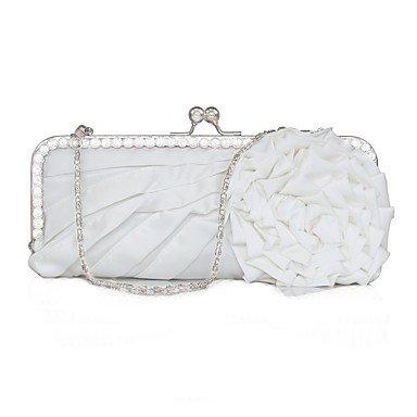 pwne L. In West Wome Die Elegante Hochwertige Handgefertigte Blume Diamanten Abend Tasche White