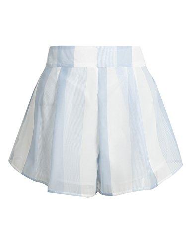 les femmes simplee mousseline vêtements épaule playsuit crop top et shorts mis bande Short