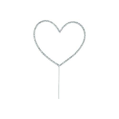 Club Green Diamant Herz auf dem Vorbau, Silber, 100mm (100 Vorbau Mm)