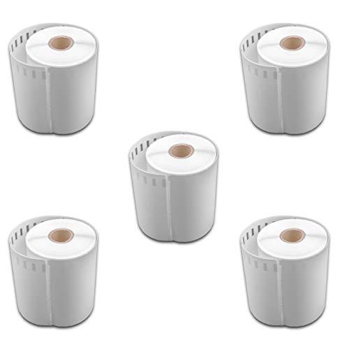 vhbw 5x set rotoli etichette adesive 104mmx 159mm per stampante di etichette come Dymo S0904980