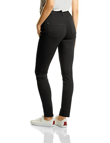 Street One Damen Slim Jeans QR Emmi Schwarz (Black Clean Wash 11070)