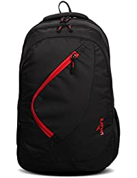 Lunar's Comet 35L Lightweight Casual Backpack (Black and Red)