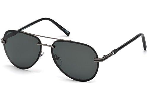 Preisvergleich Produktbild Montblanc MB643S C60 08A (shiny gumetal / smoke) Sonnenbrillen