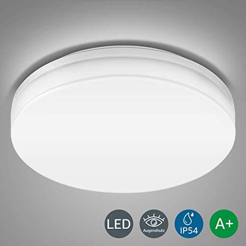 LE Wasserfest Deckenleuchte IP54 15W ersetzt 100W Glühbirne, LED Deckenlampe 5000K 1250lm 120 Abstrahlwinkel, Ideale Deckenbeleuchtung für Wohnzimmer, Küche, Balkon, Flur, Badezimmer usw. Kaltweiß