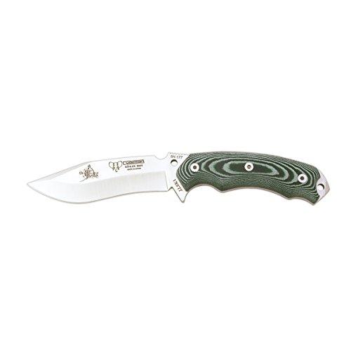 JJSK1 Überlebensmesser Cudeman 124-VK mit grünen Micarta Griff 11,7 cm Blatt und Kydexscheide