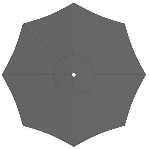 PARAMONDO Toile de rechange pour parasol avec Air Vent pour parasol Interpara (3,5m / ronde), gris