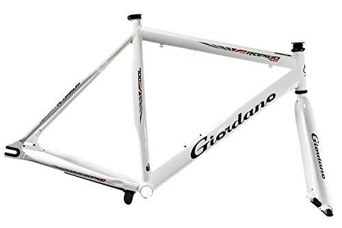 "28\"" Zoll Fahrrad Rahmen Kit Single Speed Fixie Bike Frame Inkl. Anbauteile Weiss"