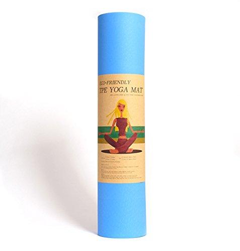 Yoga-Matte Pro von Epic Brands aus umweltfreundlichem TPE-Schaum. Sehr rutschfeste, schadstofffreie, hypoallergene und hautfreundliche Gymnastik-Matte, Fitness-Matte, Turn-Matte