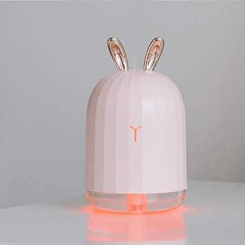 Diffuseur d'huiles essentielles Humidificateur d'air à la lavande avec diffuseur d'huiles essentielles Assouplisseur de parfum d'ambiance avec veilleuse à LED - Lapin