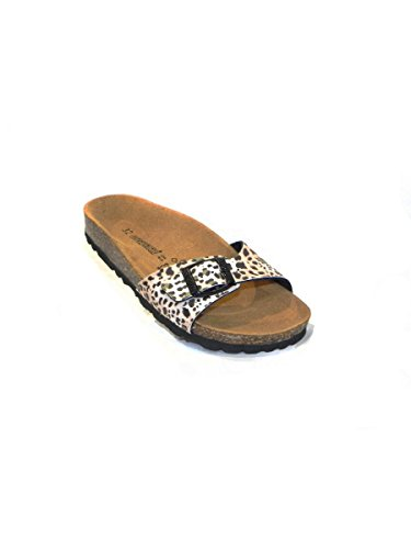 GOLD STAR , Tongs pour femme * LEOPARDATO