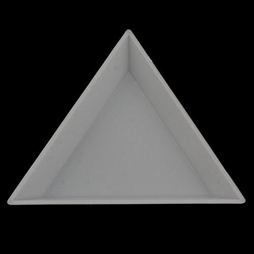 5 Perlenbox Sortierkasten Sortierbox Dreieck Weiss Bastelzubehör Perlenkasten B8