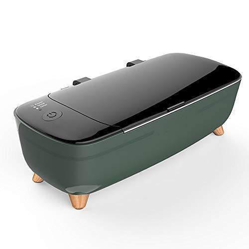 YXFYXF Ultraschallreiniger, 400Ml Professionelle Schmuckreiniger Waschmaschine Maschine Zum Reinigen Von Brillen, Uhren, Zahnersatz KöRperpflege-Reiniger,Green