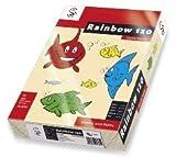 RAINBOW FARBIGE PAPIERE CREME DIN A4 160g/m² (250) für Laser, Inkjet, Copy, Fax
