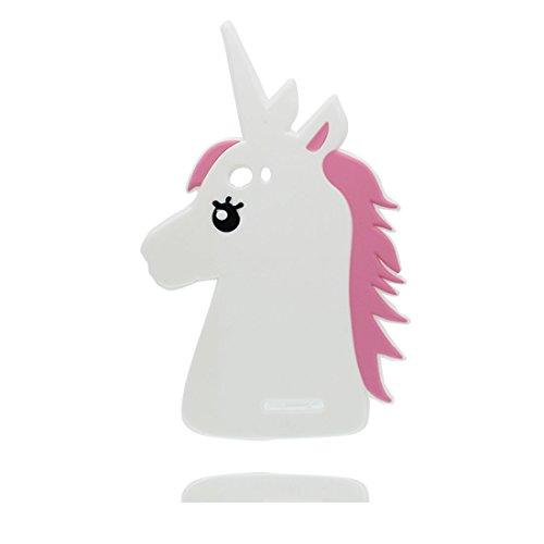 Wiko Lenny 2 Coque, 3D Cartoon Licorne cheval unicorn, Case Wiko Lenny 2 Étui, TPU Flexible Durable Shock Dust Resistant Shell