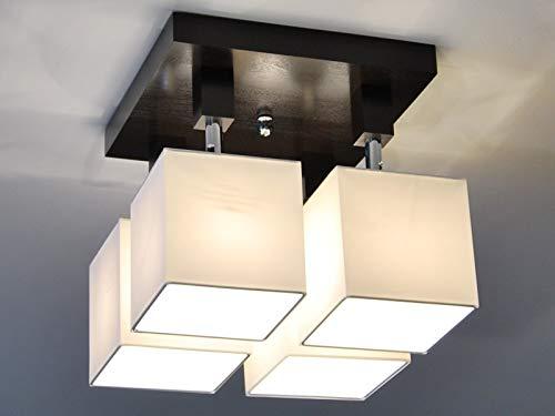 Plafoniere Per Tetto In Legno : Plafoniera illuminazione a soffitto in legno massiccio lls411dpr