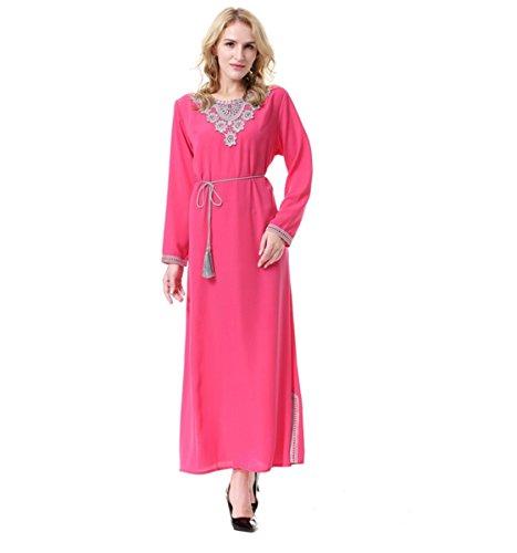 Dreamskull Muslim Abaya Dubai Kleid Muslimisch Islamisch Arab Arabisch Indien Türkisch Casual Abendkleid Abendmode Kaftan Kleidung Maxikleid A Linie Dress Schwarz Damen Frauen (S, (Saudi Frauen Arabische Für Kostüme)