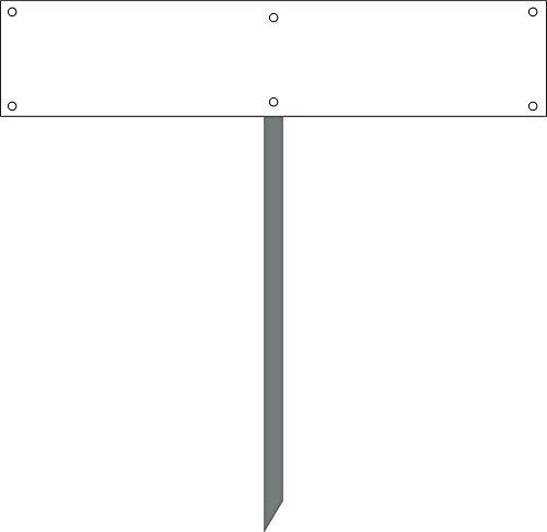 Kleberio® Kennzeichenhalterung für Parkplatzschild (52 x 11 cm) mit Hater 50 cm zum einbetonieren geeignet mit Befestigungsmaterial