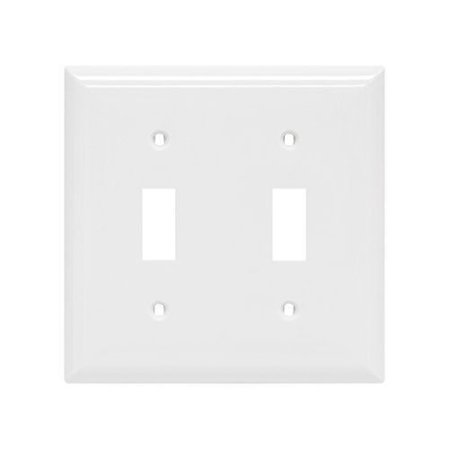 GE Double Switch Wall Plate, White Nylon 40025 by GE (GEAO7)
