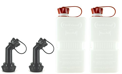 FuelFriend®-Plus Clear - Tanica da 1.5 Litri + Tubo bloccabile - 2 Pezzi per Un Prezzo Speciale