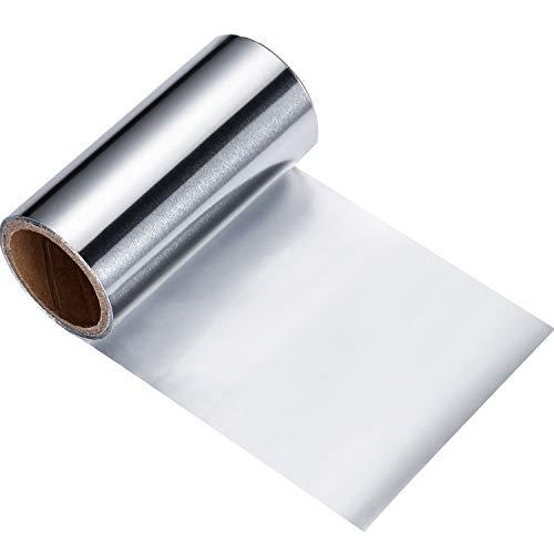 Destacando Lámina Cabello Plateado Papel de Aluminio Cabello Plateado Papel de Aluminio Herramienta para Colorear Peluqueria 10 m x 10 cm Plata