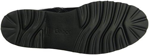 Gabor Damen Fashion Biker Boots Schwarz (Schwarz 77)