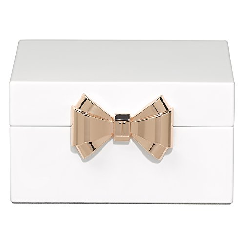Ted Baker lackiert Schmuck Box, klein, weiß