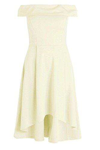 YPO Womens Lemon Plus Elizabeth Double Layer Midi Dress