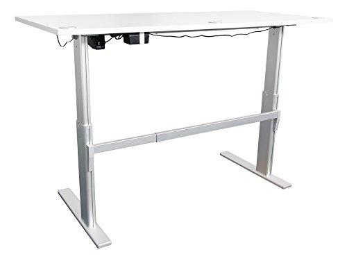Schreibtisch mit Höhenverstellung in Lichtgrau Ergonomisch Elektrisch B 180 cm x T 80 cm Bürotisch Arbeitstisch Büroschreibtisch - 2