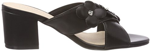 Bianco Damen Flower Cross Sandal Pantoletten, Schwarz (Black), 39 EU