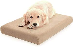 Milliard Premium en mousse à mémoire orthopédique Lit pour chien et Antimicrobien étanche antidérapant Coque