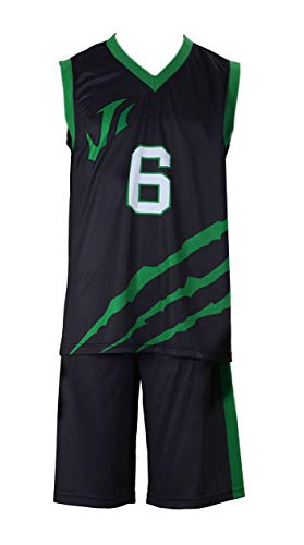 Kostüm School Japanese Boy - Chong Seng CHIUS Cosplay Costume Jersey Set for Last Game No. 6 Nick