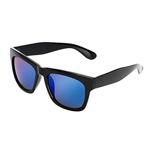 Hzjundasi Hzjundasi Groß Schwarz Rahmen Blau Linsen Anti-UV Kurzsichtigkeit Sonnenbrille Goggles Kurzsichtig Fahren Eyewear Stärke -1.00~-4.00 (Diese sind nicht Lesen Brille)