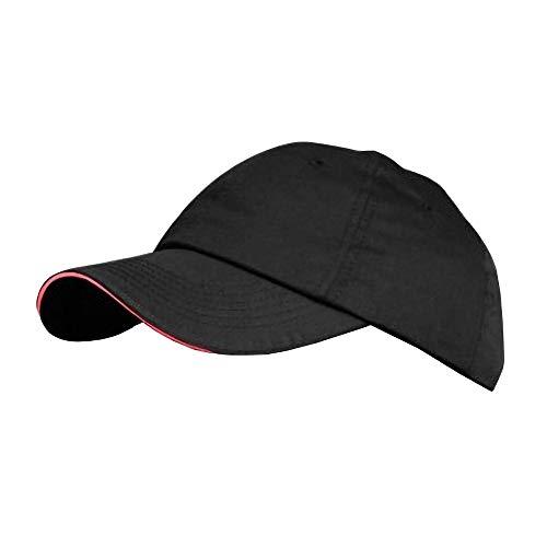Result - Casquette 100% coton - Adulte unisexe (Taille unique) (Noir/Rouge)