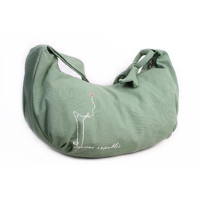 &ZHOU femminile borsa di tela grande capacità tracolla zaino del messaggero di svago di 46 * 13 * 30 , green Green