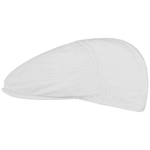 Stetson Paradise Cotton Schirmmütze weiß Herren | Flatcap mit UV-Schutz 40+ | Herrenmütze aus Baumwolle | Flat Cap Größen L 58-59 cm | Schiebermütze Sommer/Winter