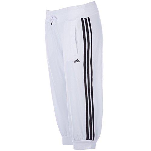 adidas Damen 3/4 Knit Hose Essentials 3S, weiß/schwarz, XXS, X21248