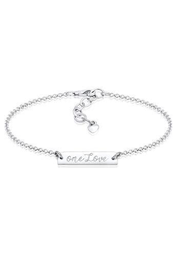 Elli Damen-Schildarmband 925_Sterling_Silber 0211351417_16 - 16cm Länge