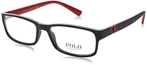 Preisvergleich Produktbild Polo Ralph Lauren - PH 2154, Rechteckig, Propionat, Herrenbrillen, MATTE BLACK RED(5247 B), 56/17/145