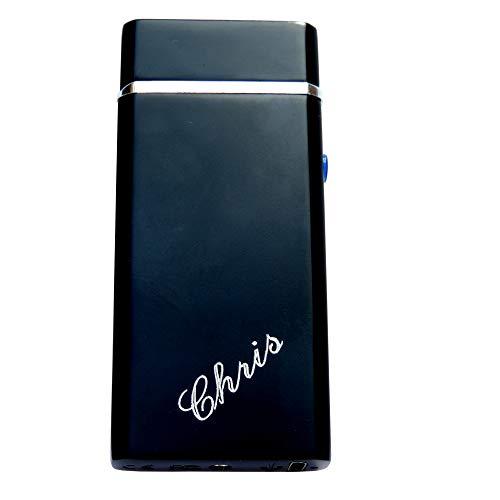 Elegantes schwarzes Plasma Lichtbogen ARC Feuerzeug ohne Gas ohne Benzin: mit Kostenloser Gravur auf der Vorderseite
