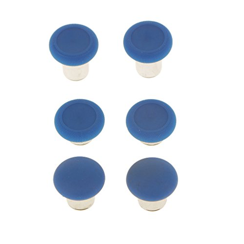 Segolike 6 Pieces Thumbstick Button Joystick Cap for XBox One Elite Game Console Controller Blue