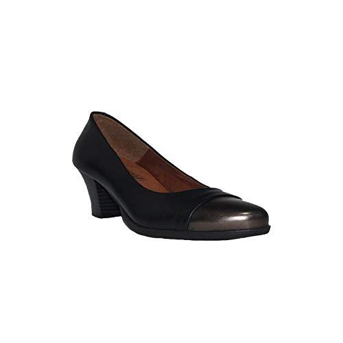 CHAMBY Zapato TACÓN Metal Zapatos Tacón Mujer Negro