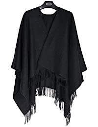 bac12c3448ea Poliking Ladies Winter Fashion 100% Cape de Cape de laine chaude avec des  étoles Quest