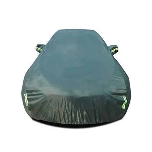 MJHETCY Autoabdeckung Vollgarage,Staubdicht mit UV Schutz, Car-Cover Kompatibel mit Toyota Hilux Car Cover Waterproof Breathable Thick Sonnenschutz Regen Persenning Leinwand (Farbe: Grün)